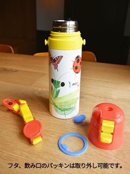 【保冷推奨】昆虫大集合ステンレスボトル レッド