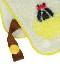 日本・今治生産 昆虫大集合3WAYハンドタオル・スタイ・ループ付き(お名前タグ付き