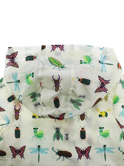 12昆虫総柄ウインドブレーカー オフホワイト
