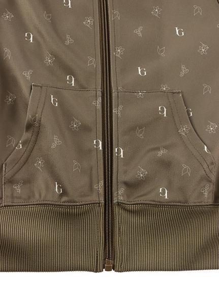 KODOMO Monogramme 再生素材ジャージジャケット beige