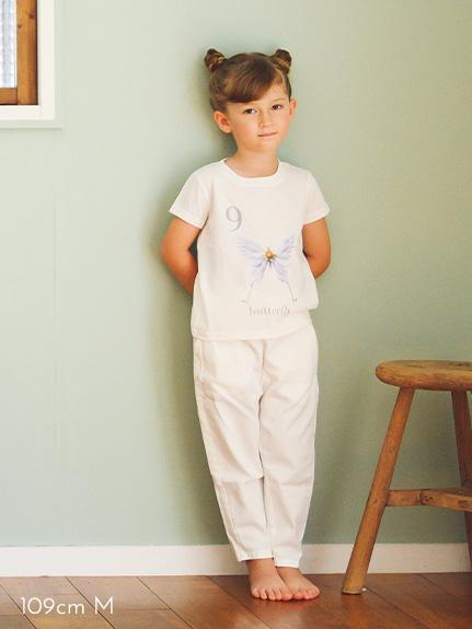 KODOMO Nombre プリント100%再生ペットボトルTシャツ タマムシ12 blanc
