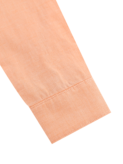 シャンブレーかまきりくん刺繍シャツ オレンジ キッズ