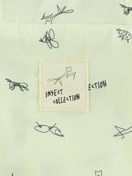 大人も!昆虫サイン・モノグラムウインドブレーカー ミルクホワイト
