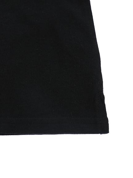 てんとう虫バルーンスリーブTシャツ ブラック オーガニックコットン使用
