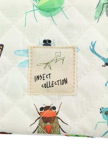 抗菌・防臭12昆虫大集合スクールバッグ オフホワイト