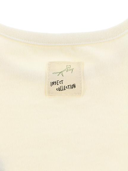 てんとう虫バルーンスリーブTシャツ ホワイト オーガニックコットン使用