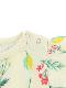 昆虫フラワーフレンチスリーブTシャツ オフホワイト オーガニックコットン使用