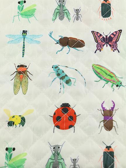抗菌・防臭12昆虫大集合シューズバッグ オフホワイト