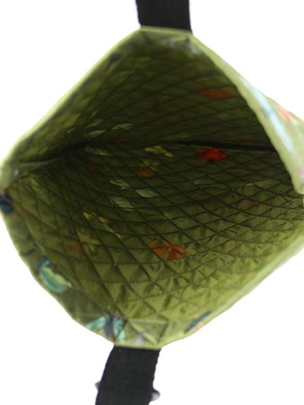 抗菌・防臭12昆虫大集合シューズバッグ カーキ