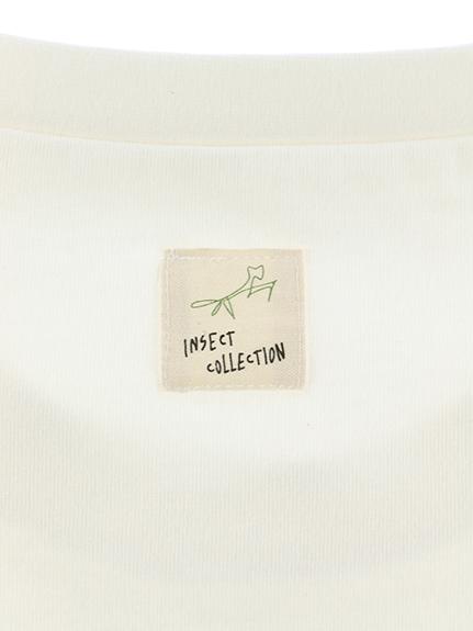太陽に当たると昆虫ゲット!?虫眼鏡クローバーTシャツ ホワイト オーガニックコットン使用