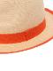 ストローハット 1ブローチ付き オレンジ キッズ