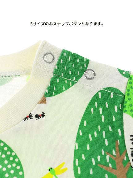 【予約商品】昆虫フォレストTシャツ グリーン オーガニックコットン使用