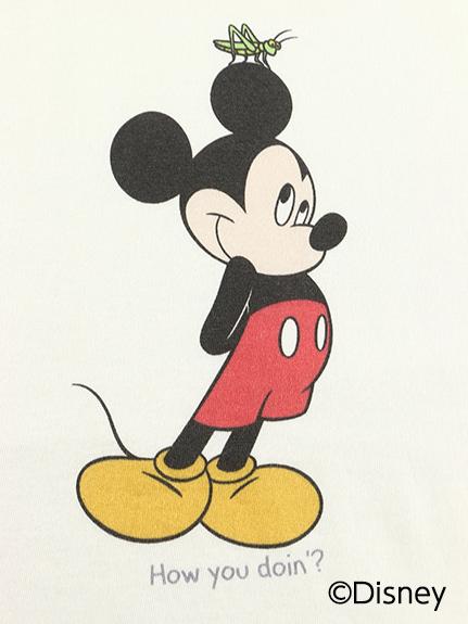 大人も!インセクトコレクション限定 DisneyデザインTシャツ<Mickey&Grasshopper> オーガニックコットン使用