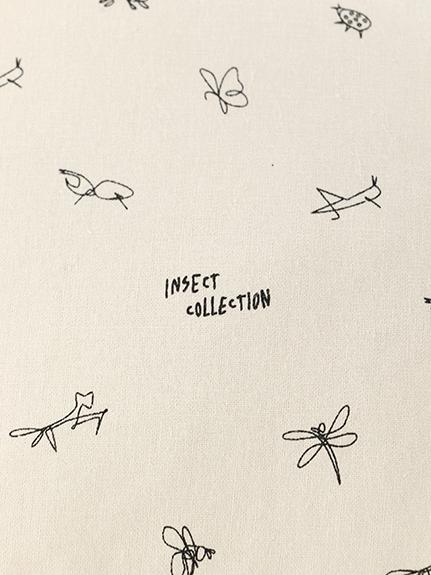 昆虫サインモノグラム コーティングトートバッグ
