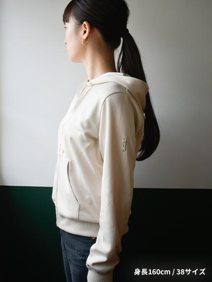 【予約商品】OTONA Encyclopedie 再生素材パーカー beige【9月下旬発送予定】