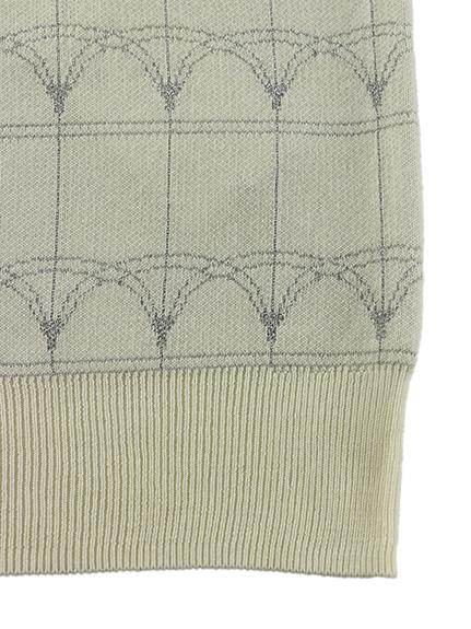 OTONA プラチナジャガード織Green House 再生素材ニット blanc