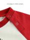 NO INSECT NO LIFE てんとうむしちゃん刺繍ラグラン長袖Tシャツ レッド キッズ オーガニックコットン使用