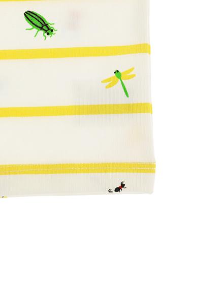 抗ウィルスなど高機能!12昆虫大集合ボーダータンクトップ オーガニックコットン使用