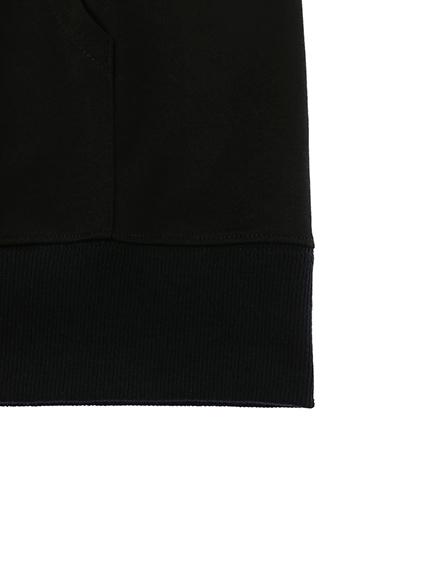 OTONA Encyclopedie 再生素材パーカー noir