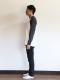 【旧サイズ】大人も!NO INSECT NO LIFE ありさん刺繍ラグラン長袖Tシャツ ブラック オーガニックコットン使用