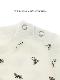 昆虫サインモノグラム 総柄Tシャツ アイボリー キッズ