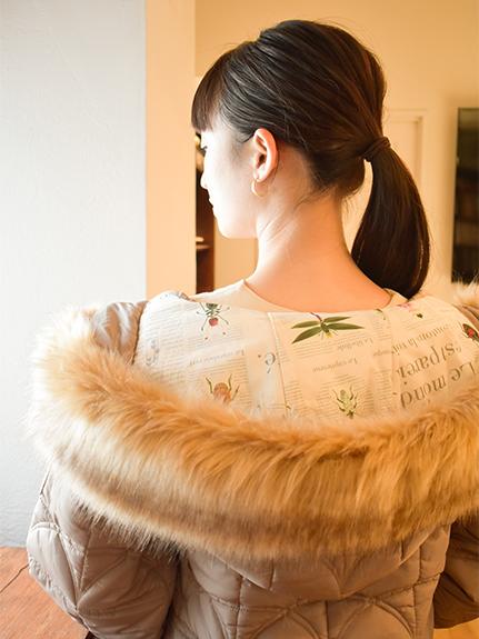 OTONA Green House×裏地Encyclopedie再生中綿 ジャケット beige