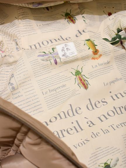【予約商品】OTONA Green House×裏地Encyclopedie再生中綿 ジャケット beige【10月中旬発送予定】