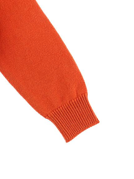 毛玉になりにくい!さがら刺繍ニット かまきりくん オレンジ キッズ