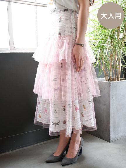 OTONA Encyclopedieチュールスカート rose