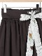 【予約商品】OTONAフードロス染色 2WAYギャザースカート Encyclopedieリボン noire【9月下旬発送予定】