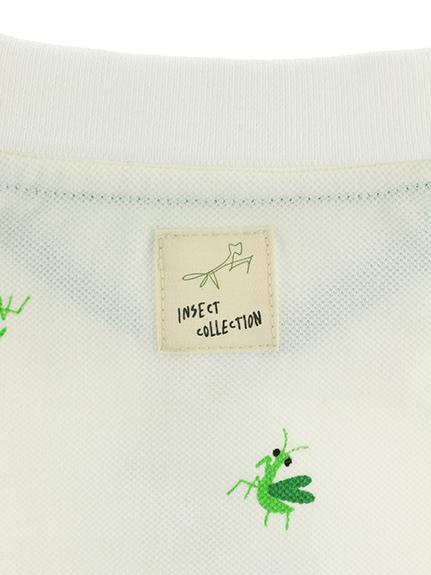 総柄かまきりくんポロシャツ ホワイト