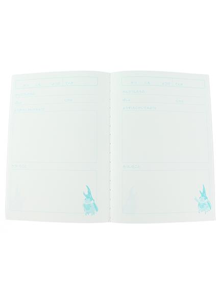 大人も!インセクトランド学習帳付きカブトムシのガブリエルTシャツ ホワイト オーガニックコットン使用