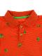 総柄かまきりくんポロシャツ オレンジ