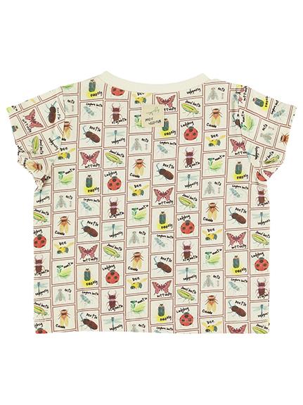 抗ウィルスなど高機能!クラシック昆虫大集合Tシャツ オフホワイト オーガニックコットン使用