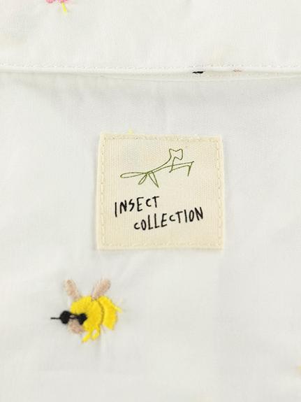 総柄刺繍シャツ はちちゃん ホワイト キッズ