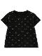 昆虫サイン・モノグラム Tシャツ ブラック