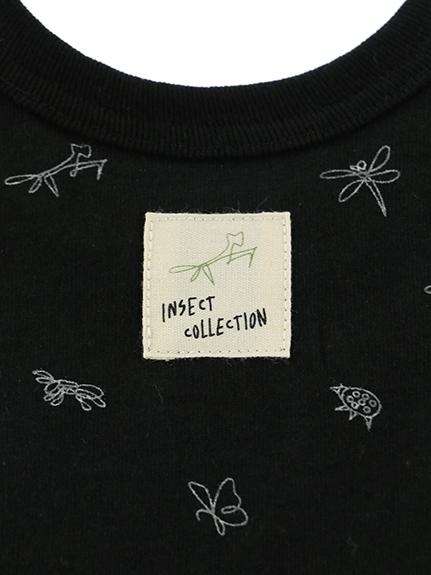 昆虫サイン・モノグラム タンクトップ ブラック