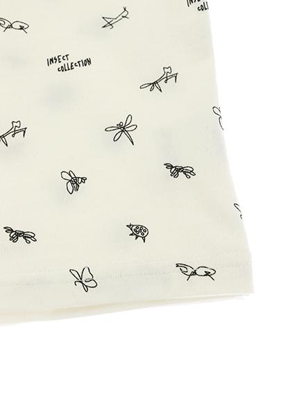 昆虫サイン・モノグラム タンクトップ ホワイト