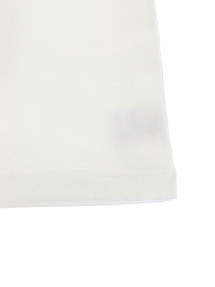 かみきりむしくんプリントTシャツ ホワイト オーガニックコットン使用
