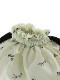 昆虫サイン・モノグラム巾着バッグ オフホワイト