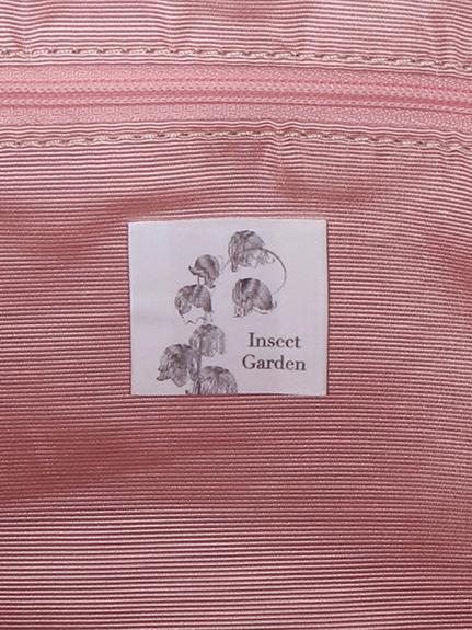 Monogramme型押しアーティフィシャルレザー スーツケースバンド付きORIGAMIトートバッグ rose