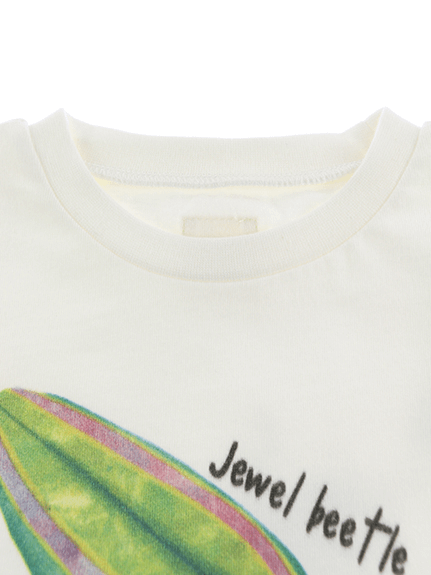 たまむしちゃんプリントTシャツ ホワイト オーガニックコットン使用