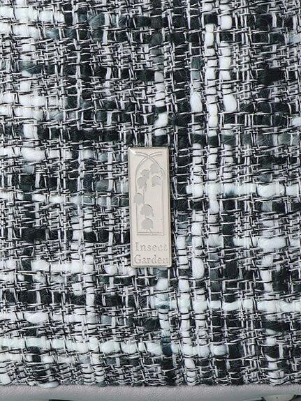 Green House型押しアーティフィシャルレザーツイードリュック noir
