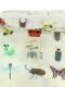 昆虫大集合ウインドブレーカー オフホワイト キッズ