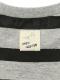ありさんボーダーモノトーン長袖Tシャツ キッズ オーガニックコットン使用