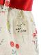 昆虫フラワー赤リボンキュロット オフホワイト