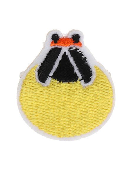 回転式セーフティピン刺繍ブローチ