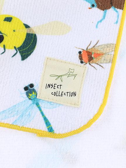 12昆虫大集合ハンドタオル ホワイト