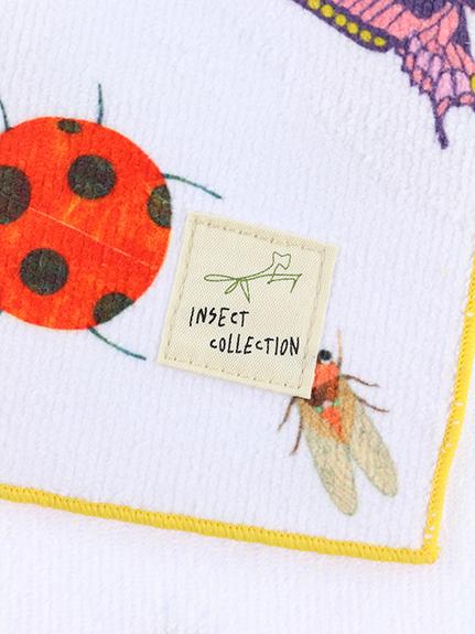 12昆虫大集合フェイスタオル ホワイト