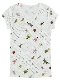 OTONA 再生ペットボトル100% EncyclopedieVネックTシャツ blanc
